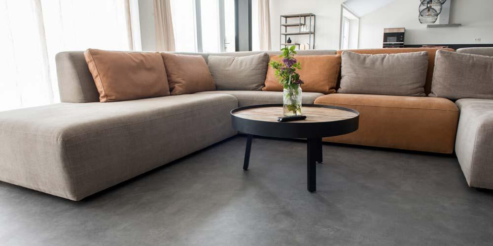 Brutalist Concrete Interior Flooring