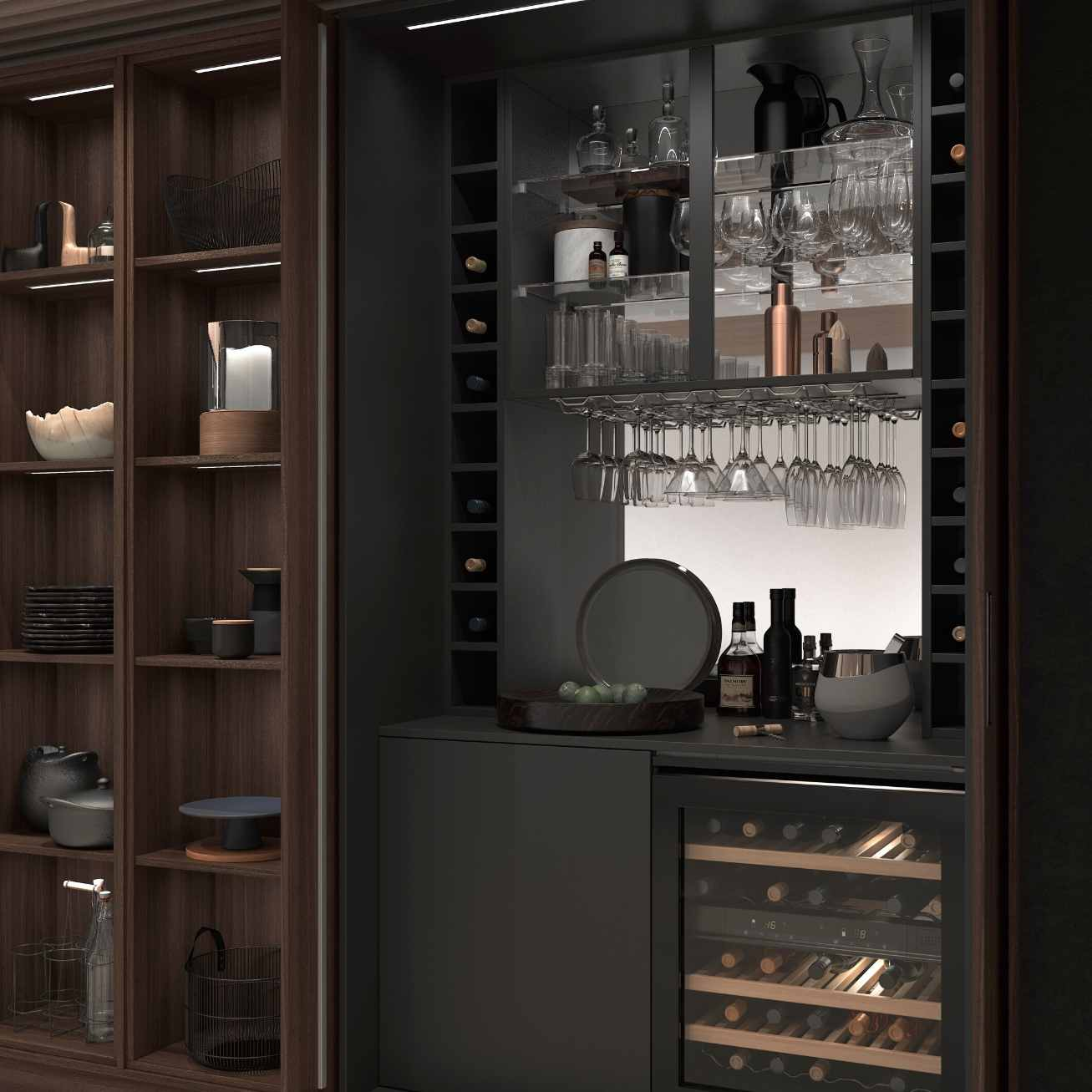 Mereway, Cucina Colore Collection Built-In Drinks Station