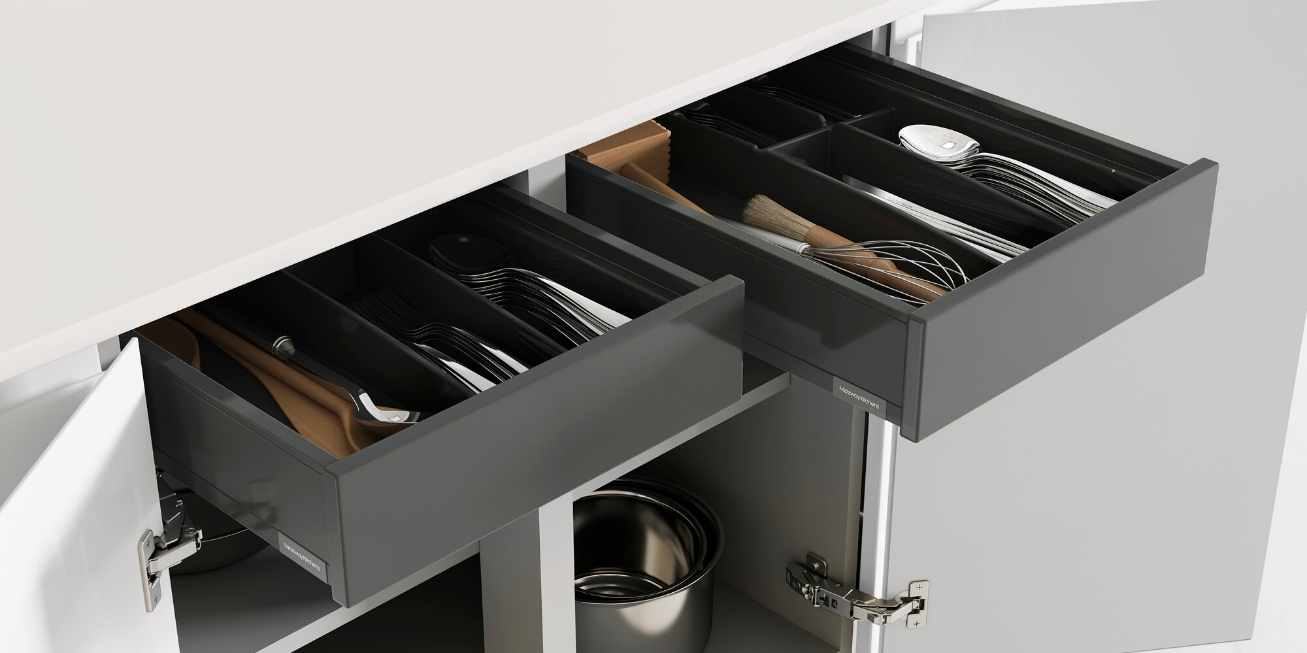 Mereway, Cucina Colore Collection Built-In Kitchen Drawer Dividers