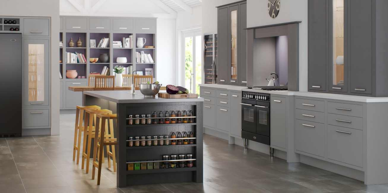 Mereway, English Revival, Modern Classic Collection Kitchen Island With Spice Rack