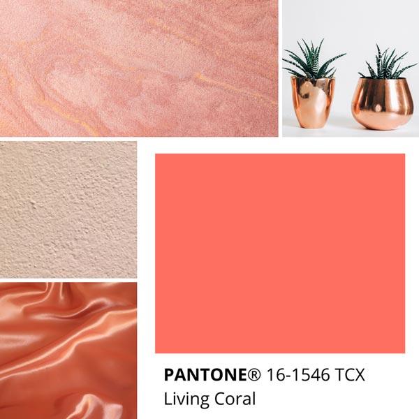 Pantone Living Coral 16-1546 TCX
