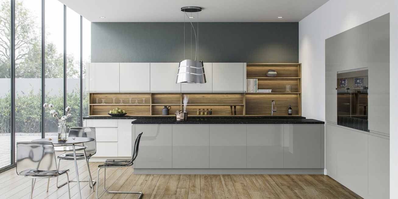 Trend, Contemporary Collection Open Kitchen Shelving