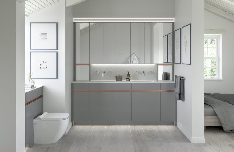 Contemporary Fitted Flat Grey