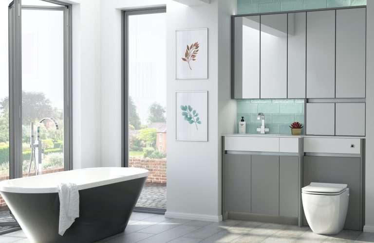 Contemporary Fitted Flat White and Flat Grey
