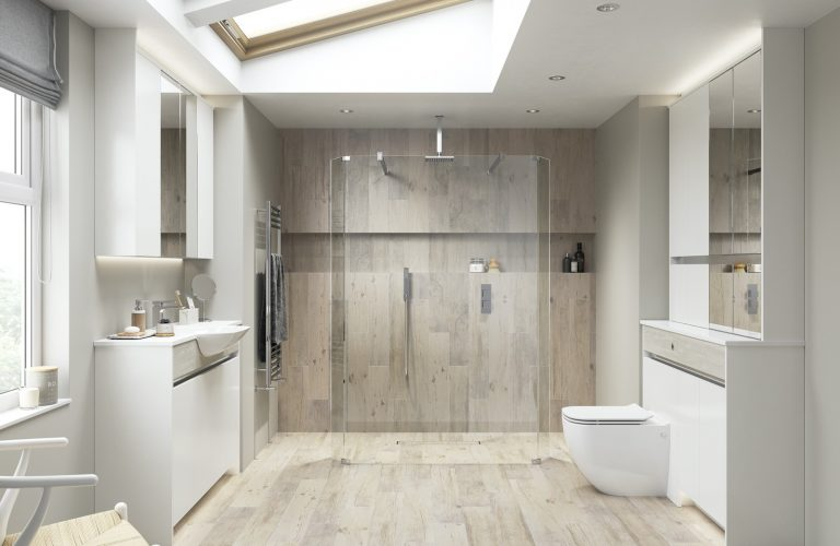 Contemporary Fitted Sandwashed White and Flat White
