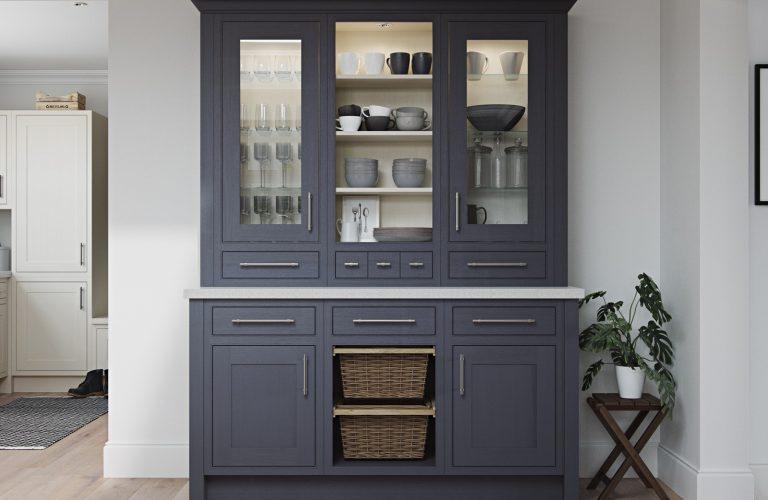 Glazed Feature Dresser Cabinet