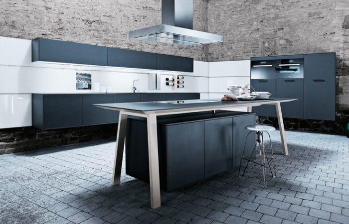Schuller-Next125-Kitchens-NX-500-Lava-black-satin-L190-m