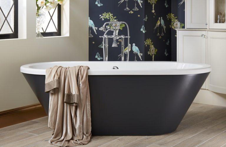 Sensuelle Bath with London Grey Painted Skirt