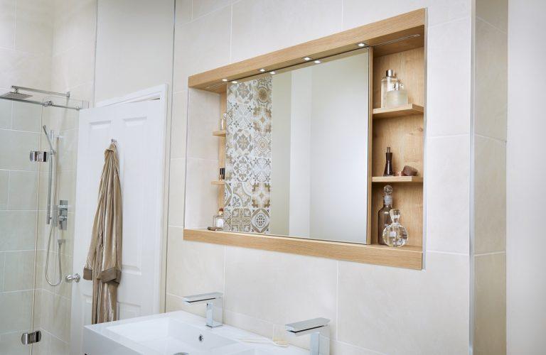 Sliding Mirror Cabinet Eton Oak