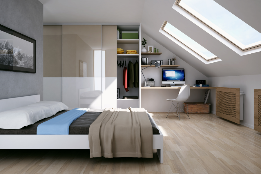 Custom-fitted wardrobes