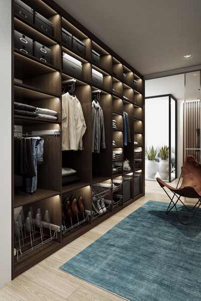Clever wardrobe storage from Forever Spaces